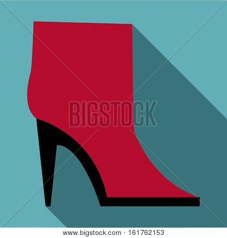 Woman boot icon. Flat illustration of woman boot vector icon for web