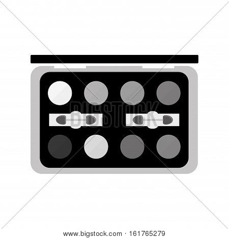 eye shadow palette  icon over white background. makeup concept. vector illustration