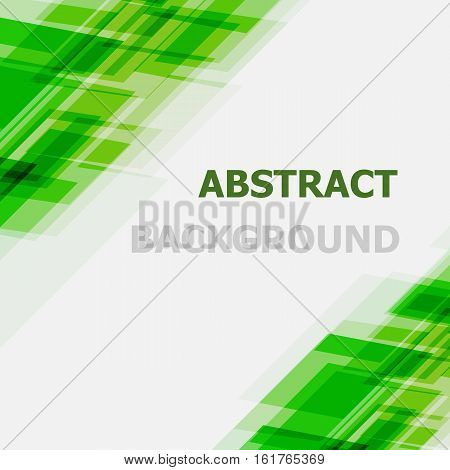 Abstract green geometric overlapping background, stock vector