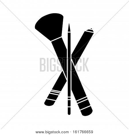makeup brush icon over white background. vector illustration