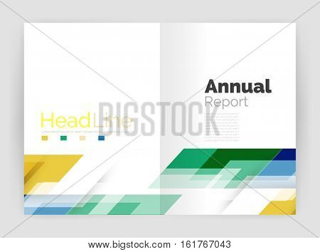 Set of business straight lines abstract backgrounds. illustration
