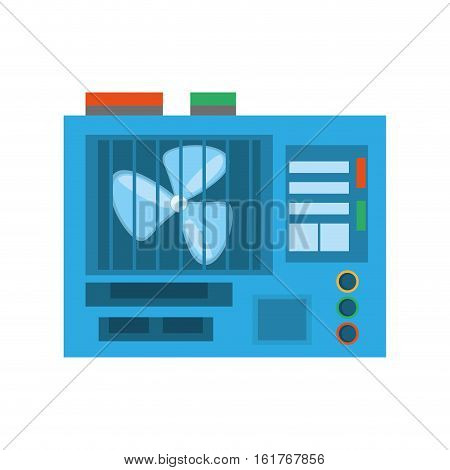 computer cooler fan electronic vector illustration eps 10