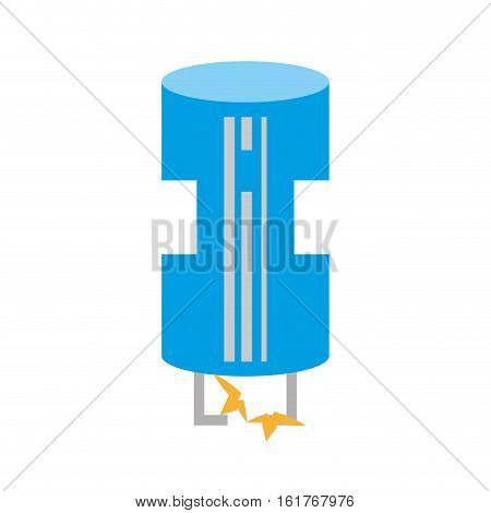drawing blue electrical component transistor vector illustration eps 10