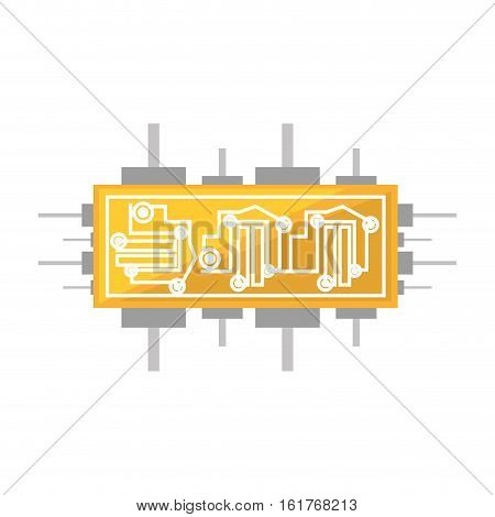 circuit board electronic componet vector illustration eps 10