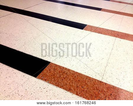Stripe terrazzo cement floor, architecture and background concept