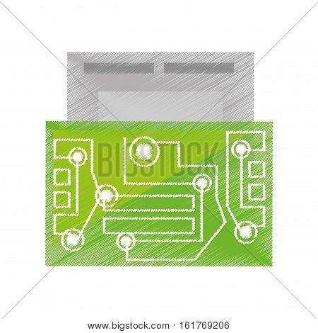 drawing usb circuit electronic hardware vector illustration eps 10