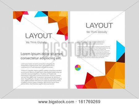 Creative abstract geometric multicolored template