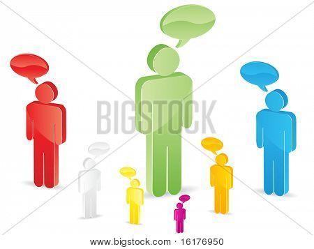 (raster image of vector) man chatting