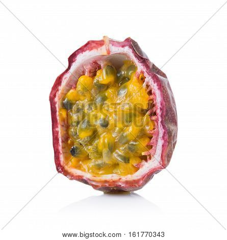 Closeup Passion fruit isolated on white background