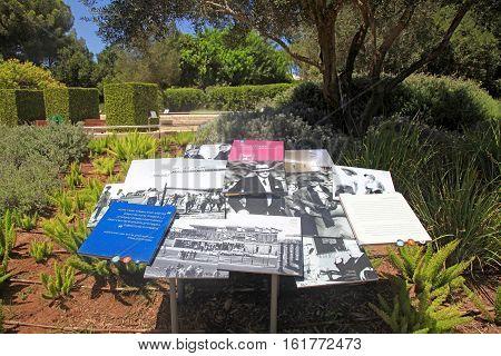 TEL AVIV, ISRAEL - AUGUST 20, 2016: Park Ramat Hanadiv Memorial Gardens of Baron Edmond de Rothschild, Zichron Yaakov, Israel