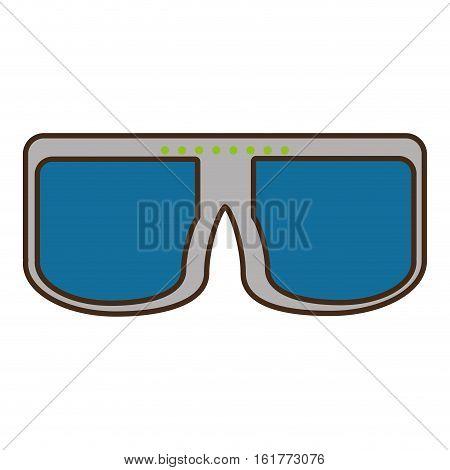 cartoon vr glasses device wireless vector illustration eps 10