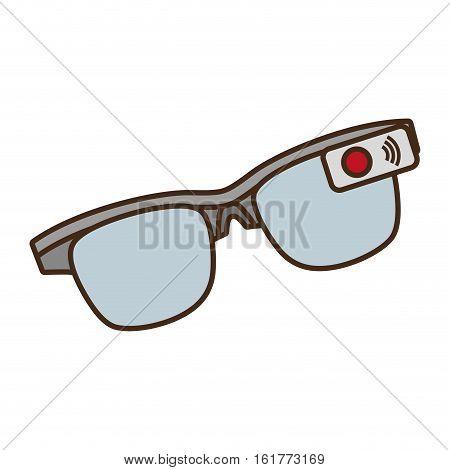 cartoon ar smart glasses device digital vector illustration eps 10
