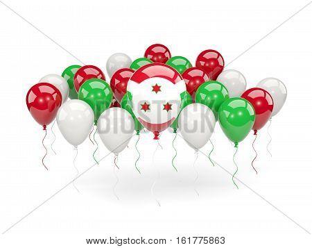Flag Of Burundi With Balloons