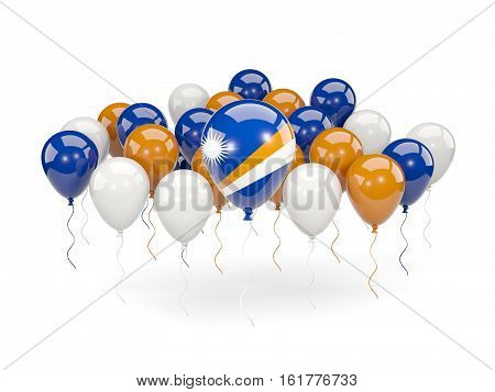 Flag Of Marshall Islands With Balloons