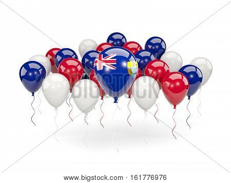 Flag Of Saint Helena With Balloons