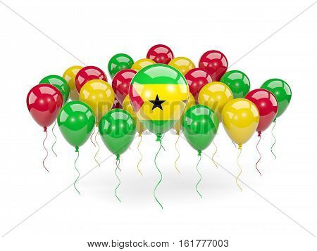Flag Of Sao Tome And Principe With Balloons
