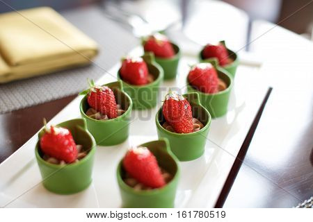 Dessert Strawberry Canapes Food