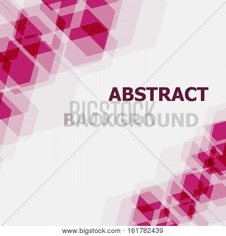 Abstract pink hexagon overlapping background, stock vector