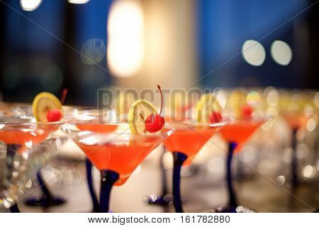 Cocktails In The Bar