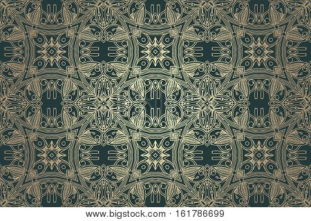 abstract retro vintage floral pattern seamless ornament in shades of gray