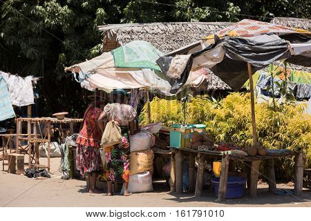 Malagasy Peoples On Marketplace In Madagascar