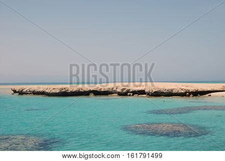 Egypt. Island the Tyrant. Red sea.Charm-ale-sheikh. marine landscape