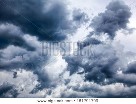 The Natural Dramatic Clouds Area for Background