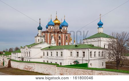 View of the Kremlin and the ancient Transfiguration Monastery in Ryazan