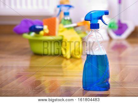 Spray Bootle On Parquet