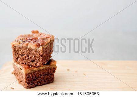Toffee cake, Toffee Cashew nut with caramel cake