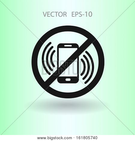 turn off phone icon. vector illustration