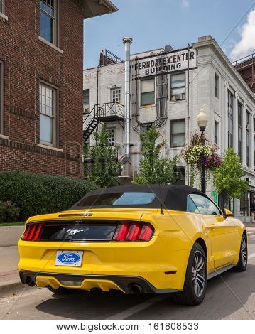 FERNDALE MI/USA - AUGUST 19 2016: A 2016 Ford Mustang car at