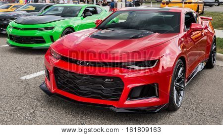 BIRMINGHAM MI/USA - AUGUST 19 2016: A 2016 Camaro ZL1 at the