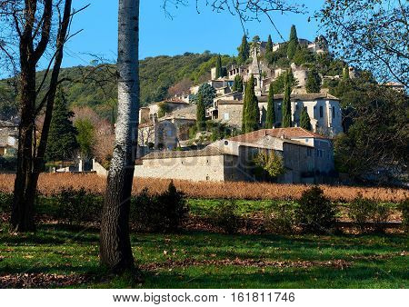 La Roque-sur-Ceze it is very picturesque village on a rocky peak in southern France. This place classified as one of the most beautiful villages in France