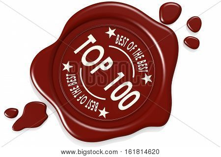 Label Seal Of Top 100