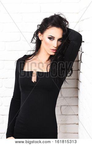 Sexy Girl In Black Dress