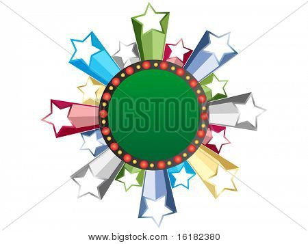 (raster image of vector) casino banner