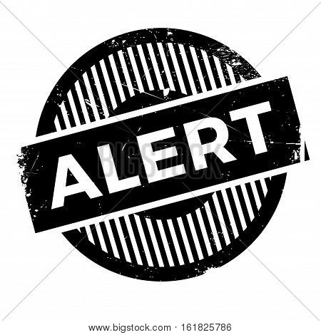 Alert rubber stamp. Grunge design with dust scratches. Effects can be easily removed for a clean, crisp look. Color is easily changed.