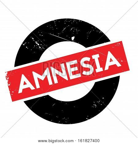 Amnesia rubber stamp. Grunge design with dust scratches. Effects can be easily removed for a clean, crisp look. Color is easily changed.