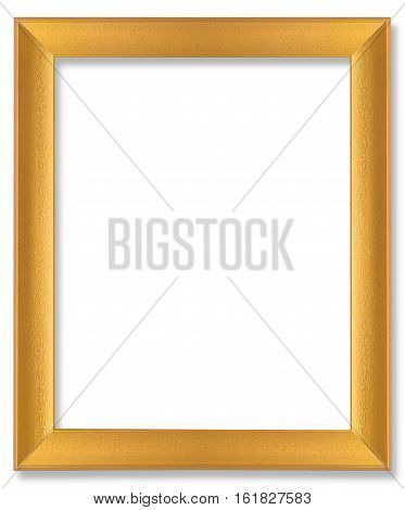 Gold wooden frame for painting or picture on white background. Gold frame photo isolated. Gold frame on white. Gold frame wood. Gold frame retro. Gold frame concept. Gold frame art. Gold frame vintage. Gold frame picture. Gold frame spac. Gold frame home
