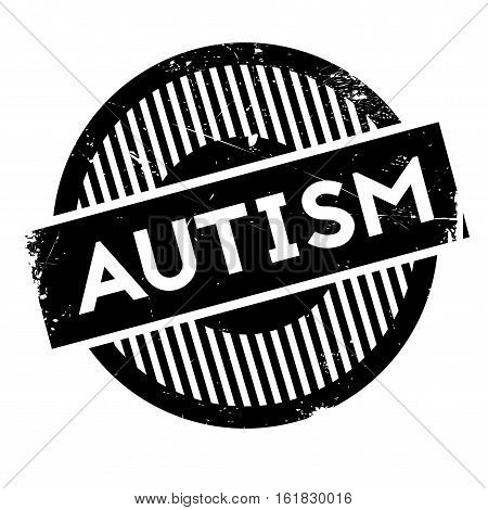 Autism rubber stamp. Grunge design with dust scratches. Effects can be easily removed for a clean, crisp look. Color is easily changed.