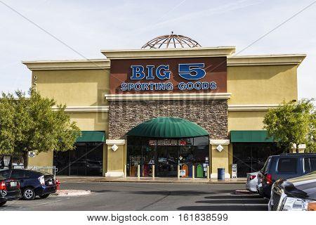 Las Vegas - Circa December 2016: Big 5 Sporting Goods Strip Mall Location. Big 5 Sporting Goods is a sporting goods retailer I