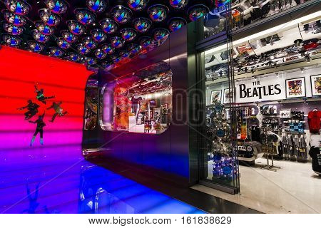 Las Vegas - Circa December 2016: The Beatles Shop at The Mirage. This is the only licensed Beatles retail store IV