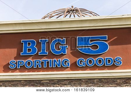 Las Vegas - Circa December 2016: Big 5 Sporting Goods Strip Mall Location. Big 5 Sporting Goods is a sporting goods retailer II