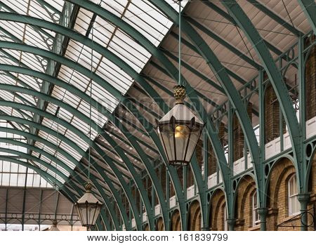 The Roof And Canopy Of Covent Garden Market