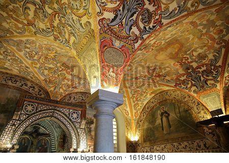 BEJA, PORTUGAL - OCTOBER 16, 2016: Chapter room of the Regional Museum Queen Dona Leonor (Nossa Senhora da Conceicao Convent)