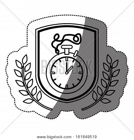 Chronometer icon. Healthy lifestyle fitness gym and bodybuilding theme. Isolated design. Vector illustration