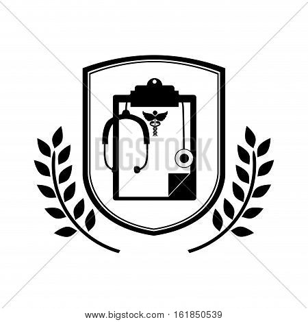 Document icon. Medical health care hospital and emergency theme. Isolated design. Vector illustration
