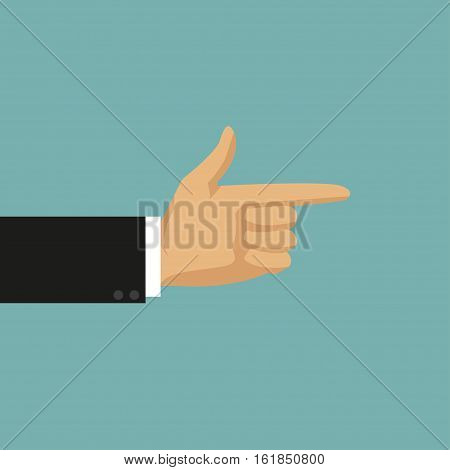 Businessman hand with thumb forward. Vector illustration