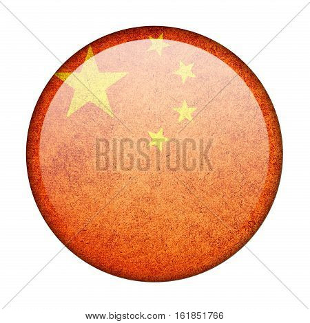 china button flag isolate on white background
